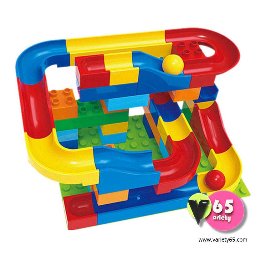 ของเล่นเสริมพัฒนาการ Crazy Happy Ball (Rolling ball rail blocks)