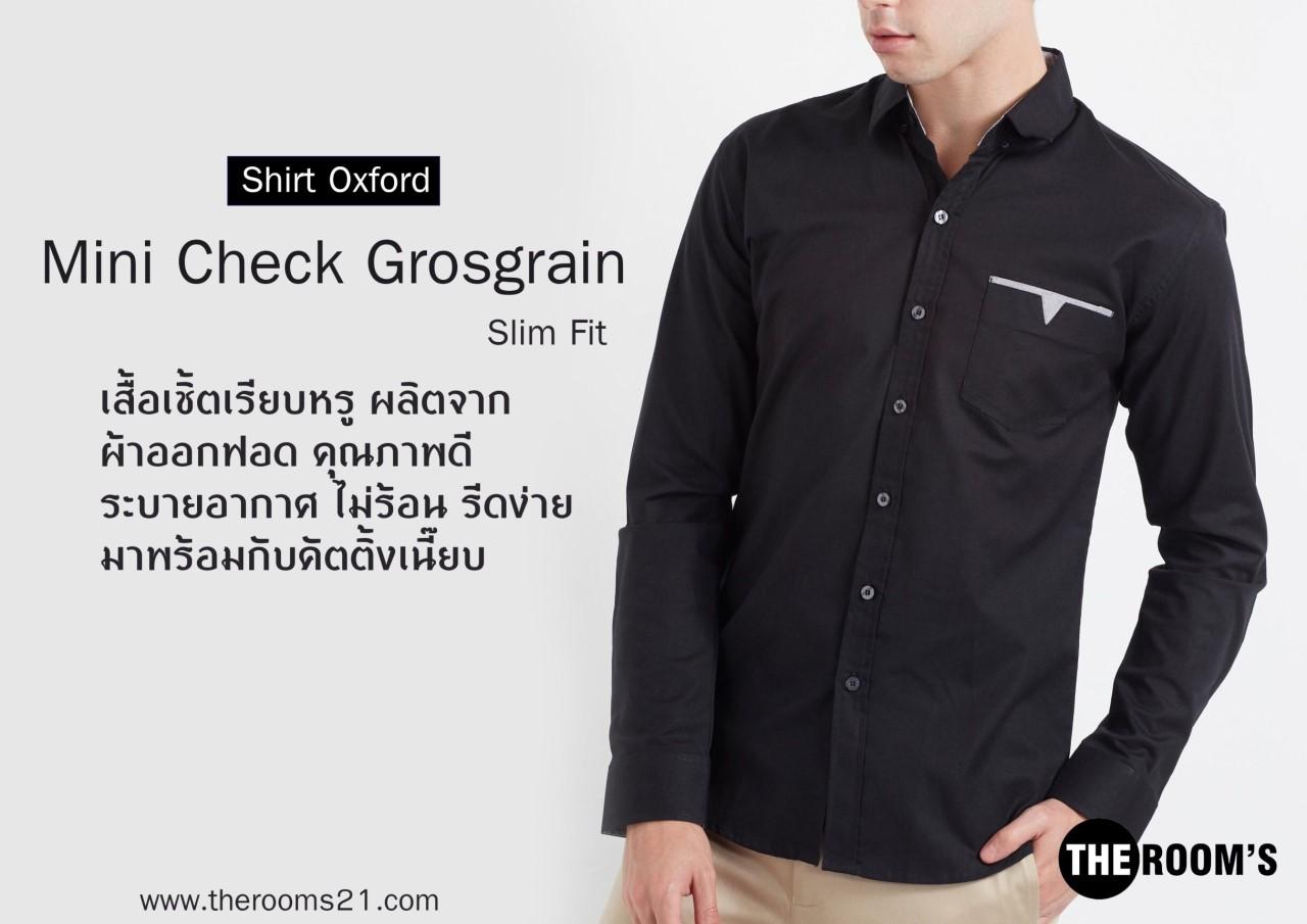 Mini Check Grosgrain Black