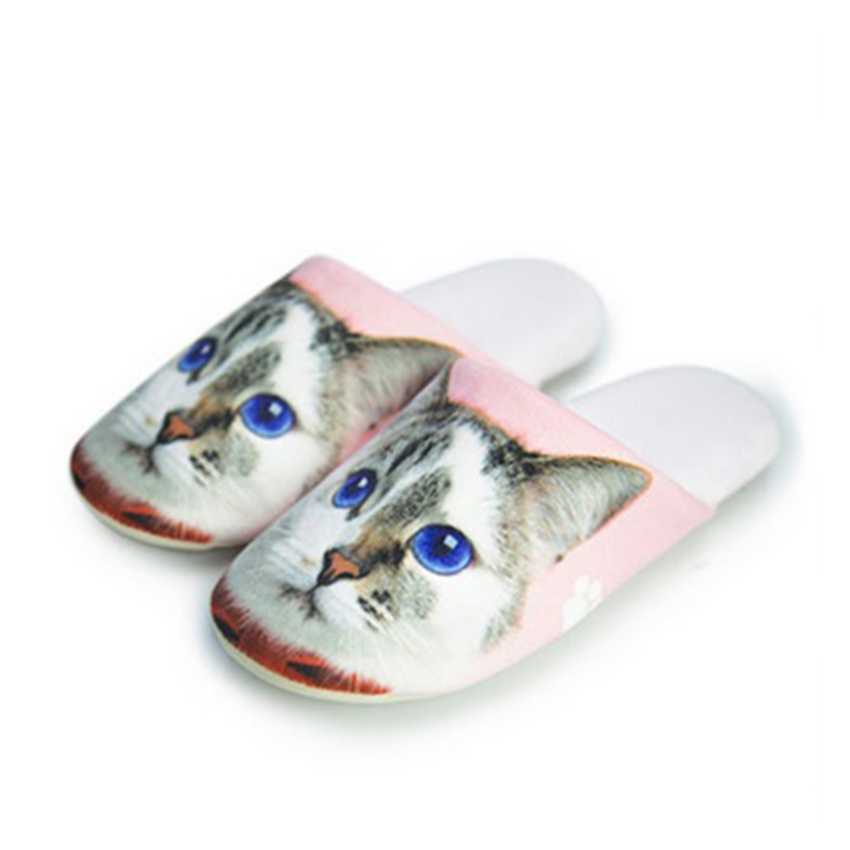 รองเท้าใส่เดินในบ้าน รองเท้าแตะในบ้าน รูปน้องเหมียวน่ารัก (Winter Lovely Cartoon Animals Slippers)