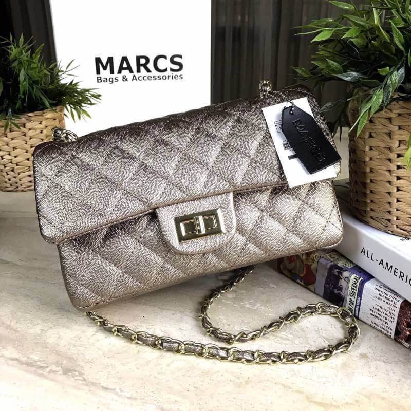 MARCS WOMAN QUILTED CHAIN SHOULD BAG *สีทอง
