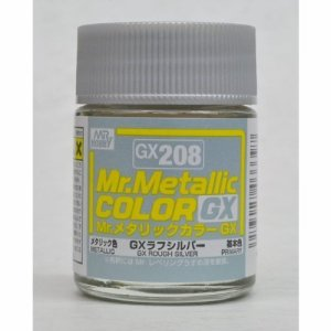 GX-208 Mr.metalic GX rough silver 18ml.