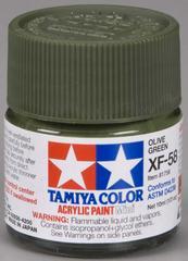 81758 acrylic mini (flat) xf-58 olive green