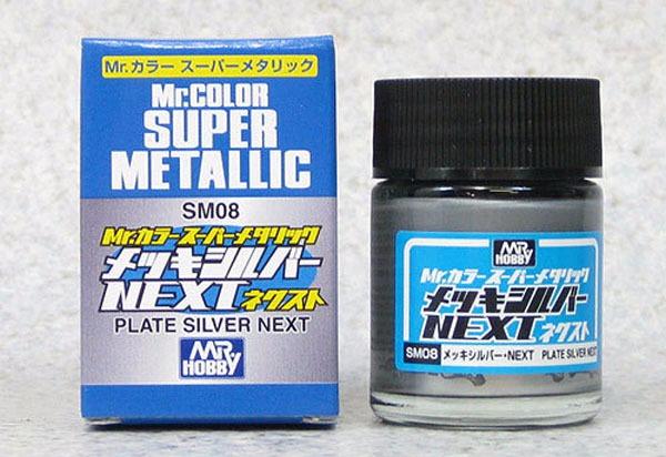 (เหลือ 1 ชิ้น รอเมล์ฉบับที่2 ยืนยัน ก่อนโอน) mr.super metallic sm08 plate silver net 18ml.