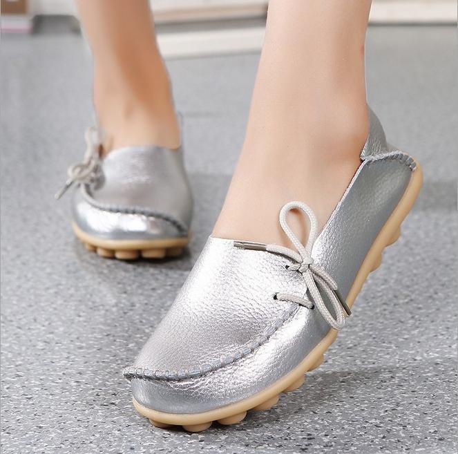 รองเท้าสวมหุ้มส้นผูกข้างสำหรับผู้หญิง Size 44