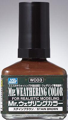 (เหลือ 1 ชิ้น รอเมล์ฉบับที่2 ยืนยัน ก่อนโอน) wc-03 stain brown 40ml.