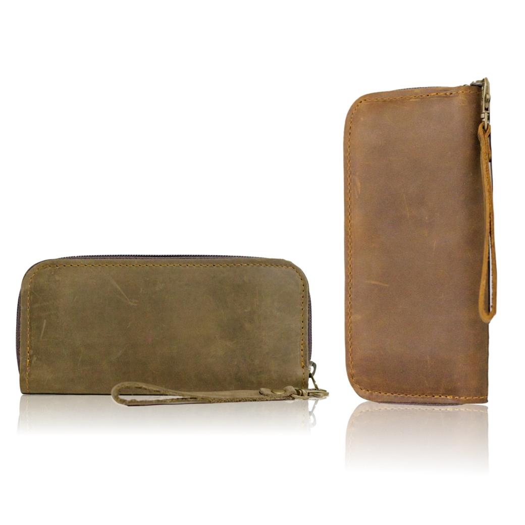 กระเป๋าสตางค์ กระเป๋าใส่บัตร หนังแท้ เหมาะสำหรับเก็บธนบัตร โทรศัพท์ และการ์ด ใช้ได้ทั้งผู้หญิงและผู้ชาย
