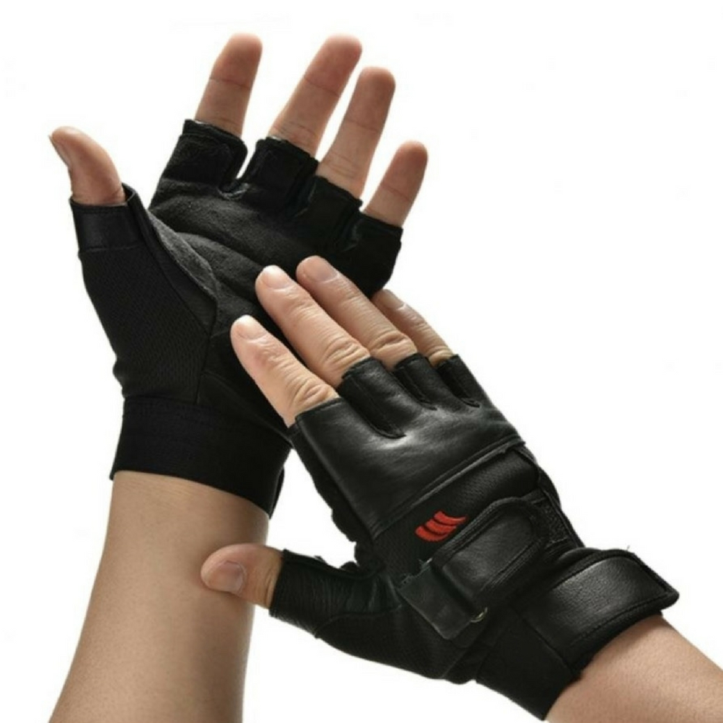 ถุงมือฟิตเนต ออกกำลังกาย ถุงมือยกเวท ถุงมือปั่นจักรยาน เหมาะสำหรับท่านที่ชอบออกกำลังกาย ขนาดฟรีไซด์ (แบบสั้น)