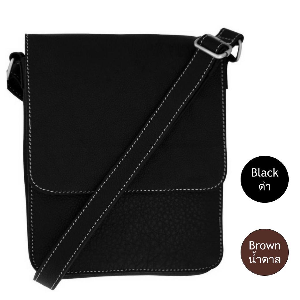 กระเป๋าสะพายข้าง กระเป๋าหนังแท้ สำหรับผู้ชาย ขนาด 14นิ้ว เหมาะสำหรับใส่ไอแพด แท็ปเล็ต หนังสือ หรือ อื่นๆ