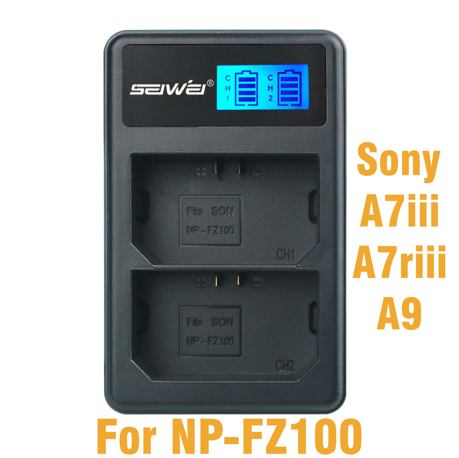 SEIWEI LCD Dual Charger for Sony NP-FZ100 Battery