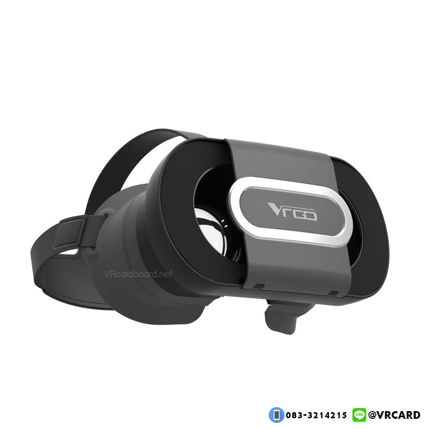 แว่นVR Cardboard รุ่น VRGO ของแท้ รุ่นใหม่ล่าสุด [สีดำ Black-Edition]