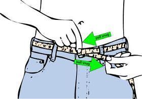 การวัดขนาดรอบเอว จากหูกางเกง1