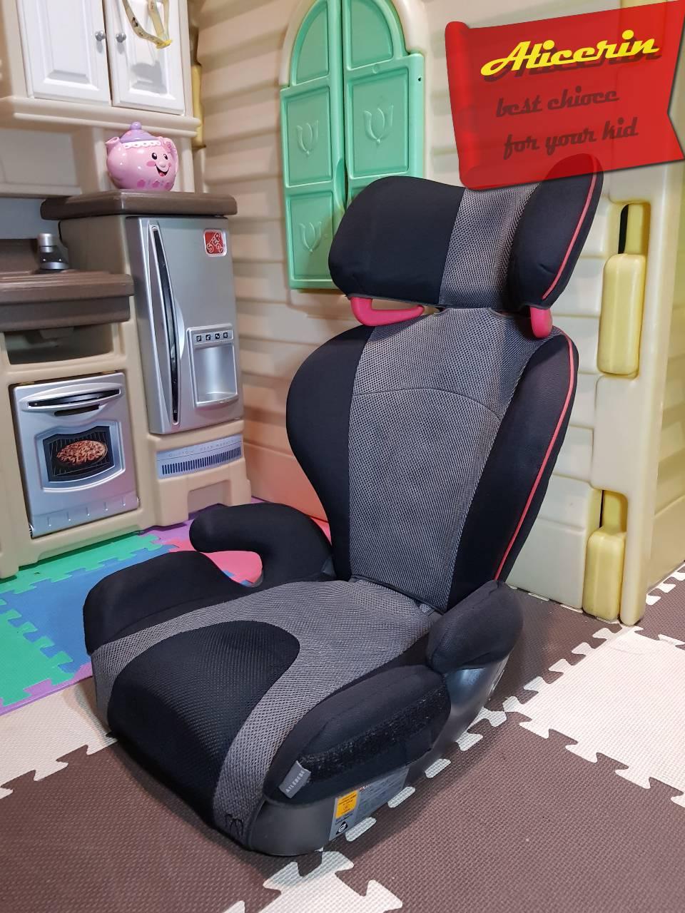 คาร์ซีทเด็กโต บูสเตอร์ Ailebebe รุ่น Saratto BK -Booster Seat .ใช้ได้ถึง 12ขวบ