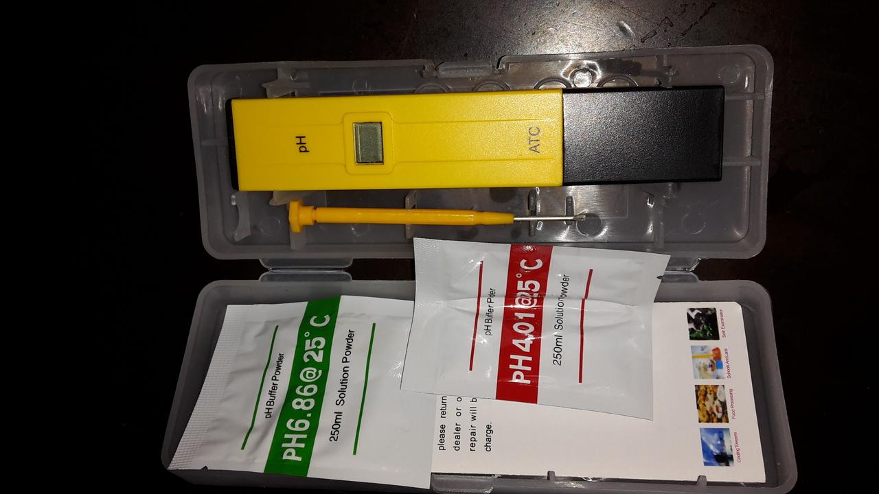 เครื่องวัด PH ในน้ำ ในอาหาร ปลูกผักไฮโดร ATC PH008