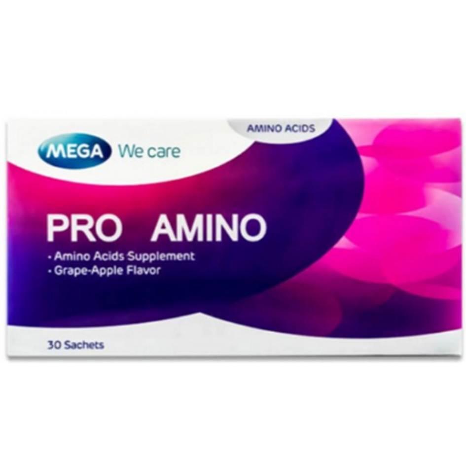 Mega We Care Pro Amino 30 ซอง สร้างโกรทฮอร์โมน ช่วยเสริมความสูง