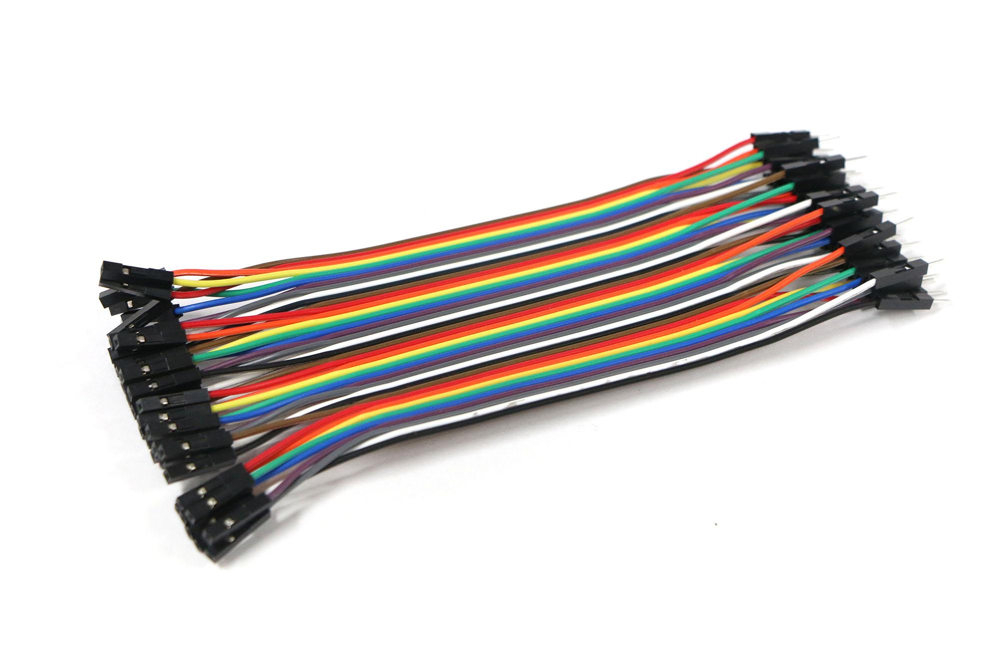 สายไฟ จัมเปอร์ Jump Wire (Male to Female) ยาว 20 cm จำนวน 40 เส้น