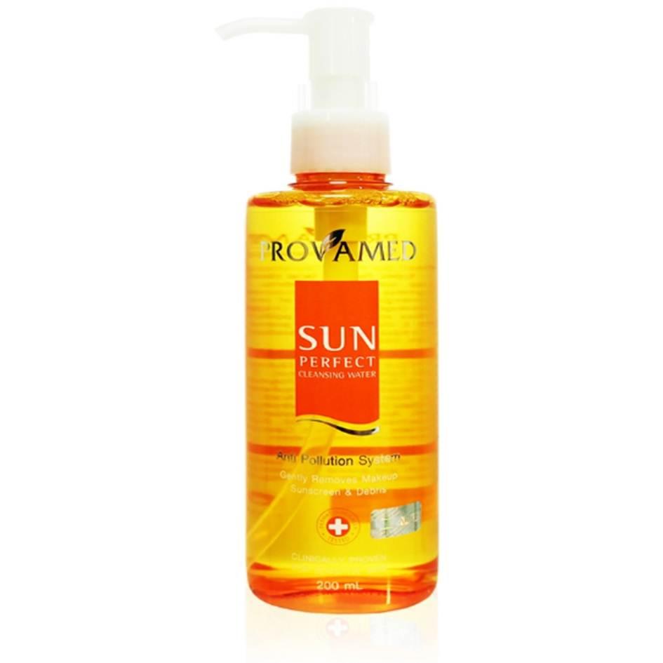 Provamed Sun Perfect Cleansing Water 50ml เช็ดทำความสะอาดผิวหน้าสูตรน้ำ