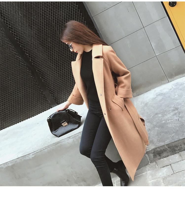 เสื้อโค้ท PASSM คุณภาพดีผ้า Wool กันหนาว (สี Beige)