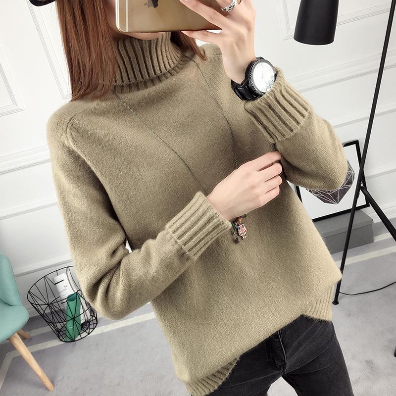 SUMIYA women sweater กันหนาว คุณภาพดี (สีน้ำตาล)