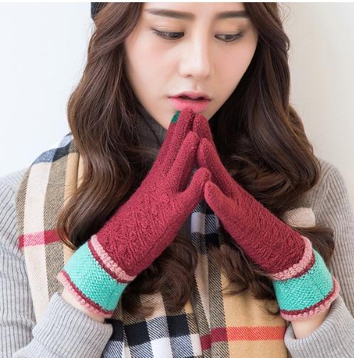 iWinter touch glove ถุงมือทัชกรีนได้ (ผู้หญิง/สีแดง)