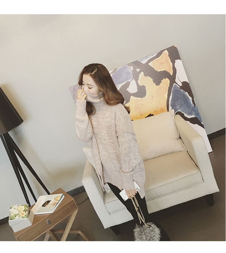 High quality knitted sweater women (สี Beige)