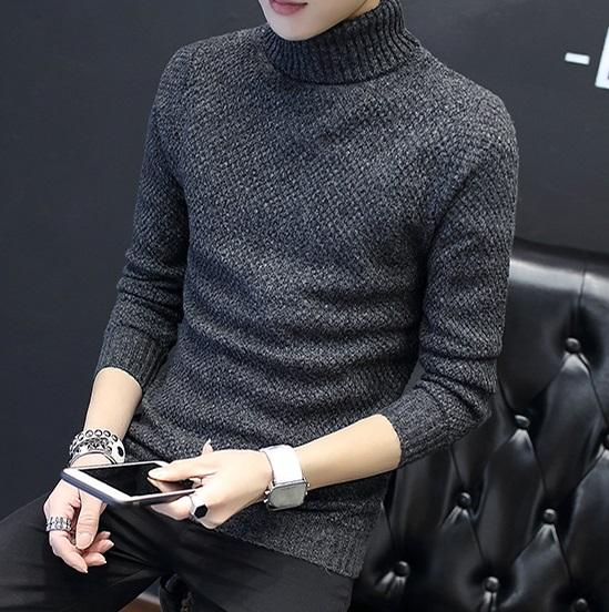 HQ Winter sweater CM123 (สีเทาเข้ม)