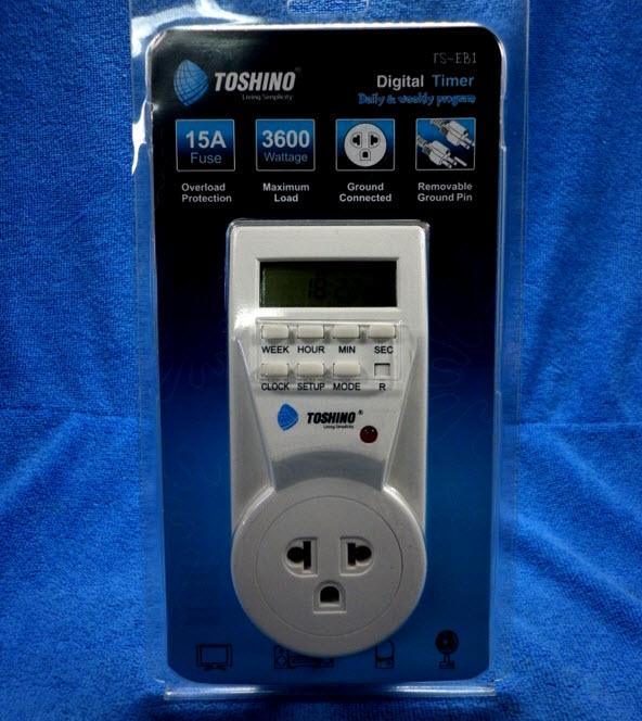 ปลั๊กจ่ายไฟแบบตั้งเวลา TOSHINO Digital Timer TS-EB1