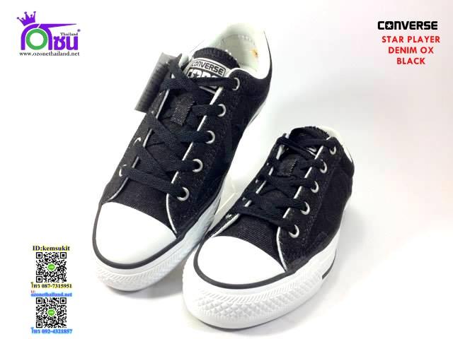 ผ้าใบ Converse Star Player Denim Ox Black สี ยีนส์ดำ เบอร์4-10