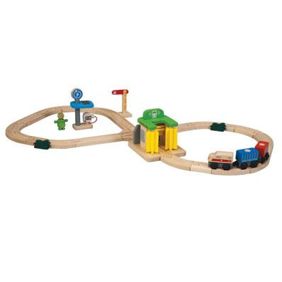 ของเล่นเสริมพัฒนาการ PlanToys ของเล่นไม้ Railway–Washing Station 6247 [ส่งฟรี]