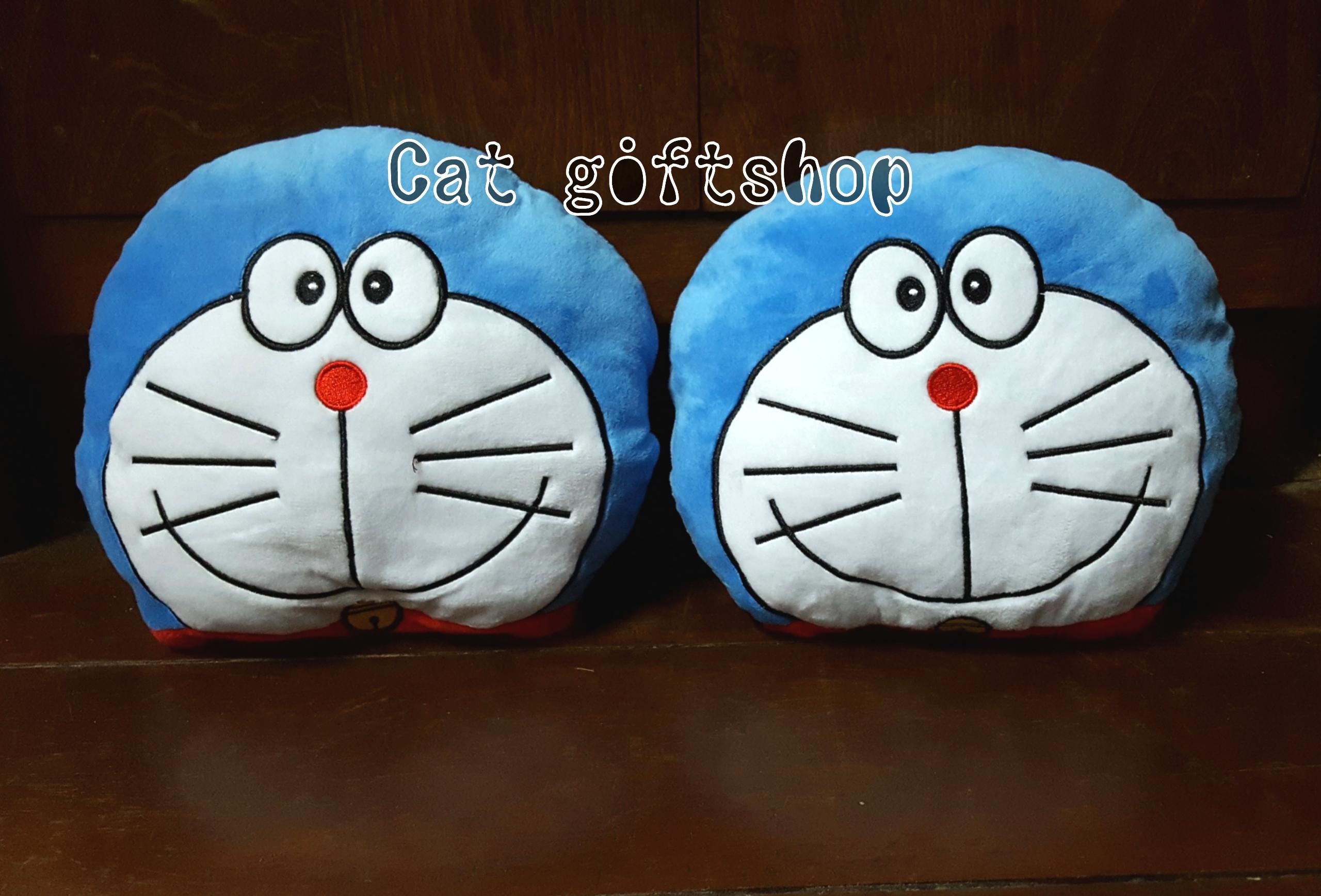 มีพร้อมส่งค่ะ :: หมอนรองคอเบาะรถยนต์ Doraemon 1 คู่