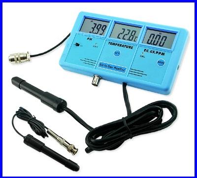 เครื่องมือวัด 6-in-1 Multi-Function Digital LCD Meter Water Tester EC CF TDS (ppm) PH °C °F