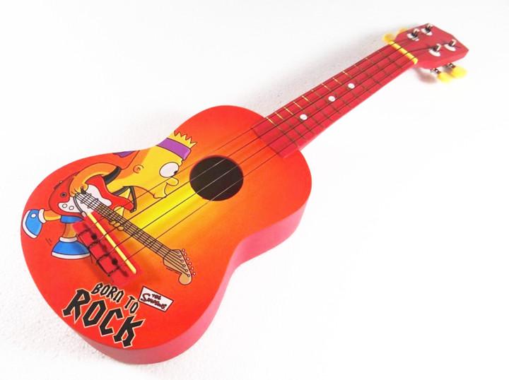 """อูคูเลเลเล่ Ukulele รุ่น Rock สี Red Soprano 21"""" Basswood GHS ฟรีกระเป๋า"""