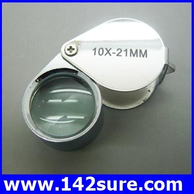 DLT020 กล้องส่องพระ (ระดับเซียนพระ) กล้องส่องจิวเวอร์รี่ ขยาย 10X-21mm Silver Eye Loupe Jewelry Magnifier Magnifying Glass Plated Antique