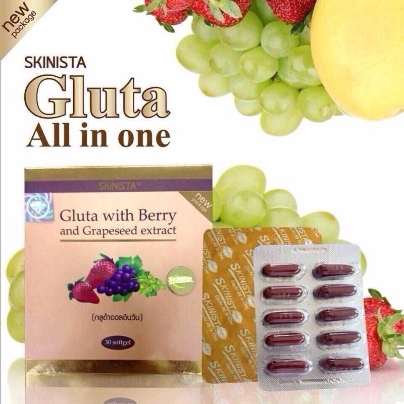 All in One Gluta With Berry กลูต้าออลอินวัน สูตรปรับปรุงใหม่ ราคาปลีก 350 บาท / ราคาส่ง 280 บาท