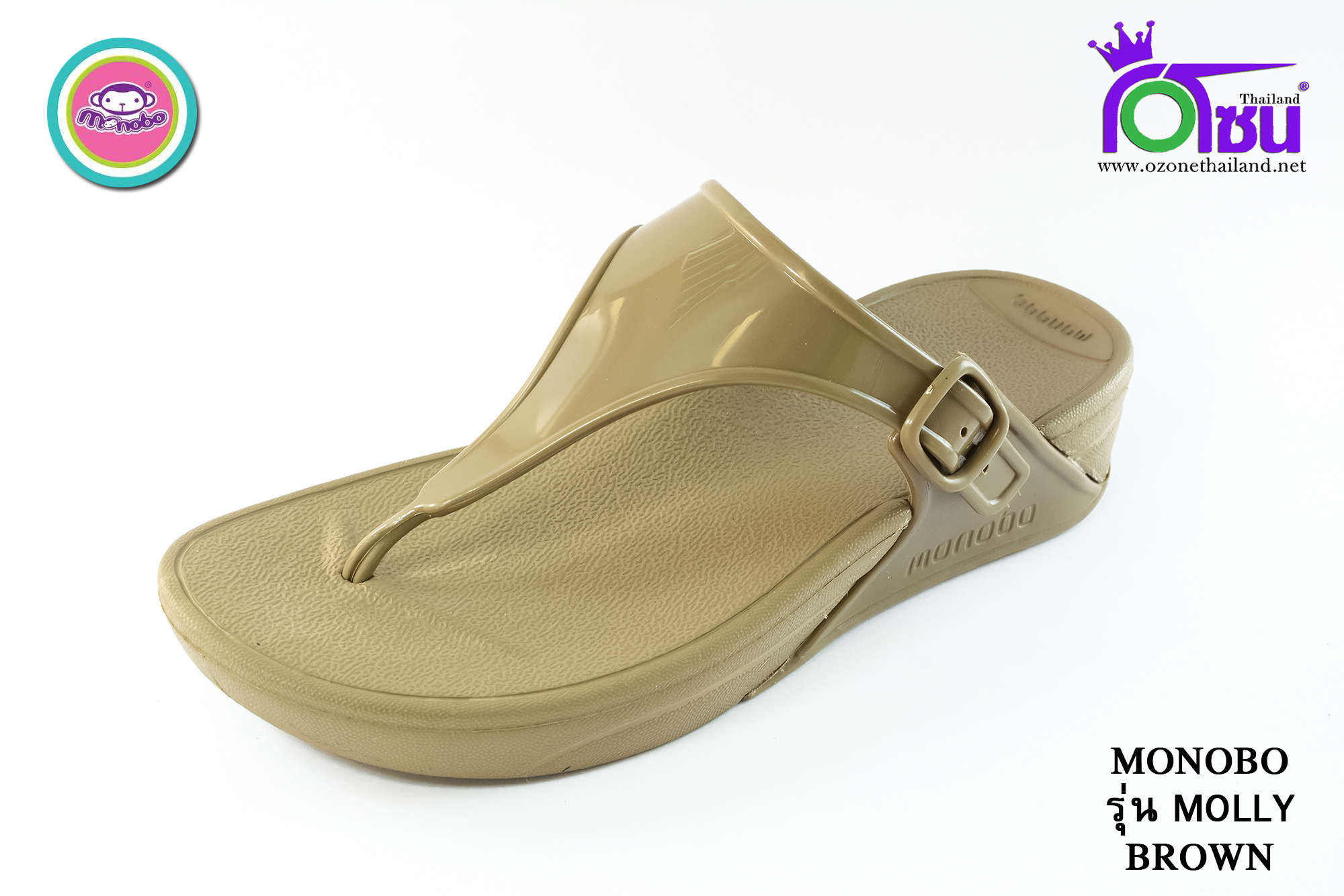 รองเท้าแตะ Monobo Molly โมโนโบ้ รุ่น มอลลี่ สีน้ำตาล เบอร์ 5-8