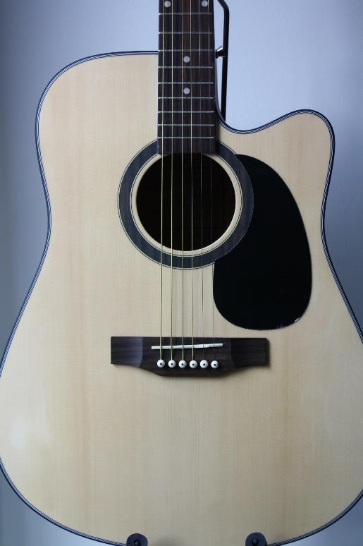 กีต้าร์ โปร่งไฟฟ้า Guitar Compas Top spruce