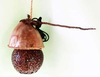 Coconut Shell Lamp (โคมไฟลูกกะลามะพร้าว น่ารักมาก)