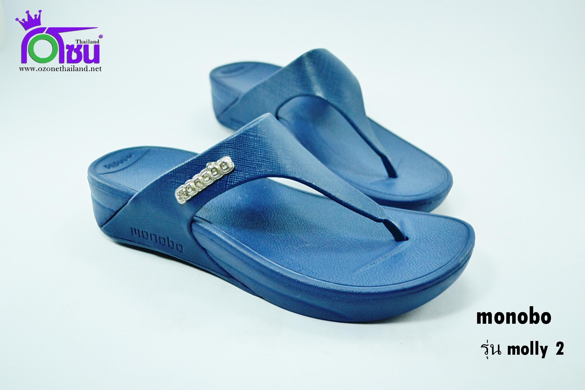 รองเท้าแตะ Monobo Molly 2 โมโนโบ้ รุ่น มอลลี่ 2 สีกรม เบอร์ 5-8