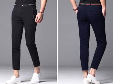 4แบบ ซื้อ 2 โปรลด150- กางเกง5ส่วน เดฟ กางเกงทำงาน เข้ารูป เอว No.28-38 น้ำเงิน ดำ แถบฟ้า แถบแดง