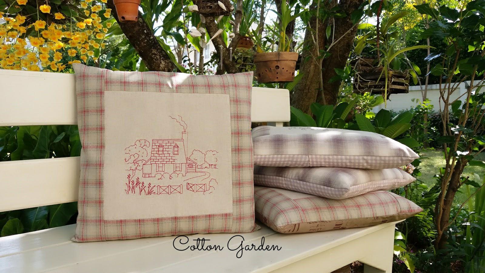 ปลอกหมอนอิงผ้าญี่ปุ่น Ann of Green Gabel ลายบ้าน ขนาด 16 x 16 นิ้ว ถอดซักได้ ขายพร้อมหมอนค่ะ
