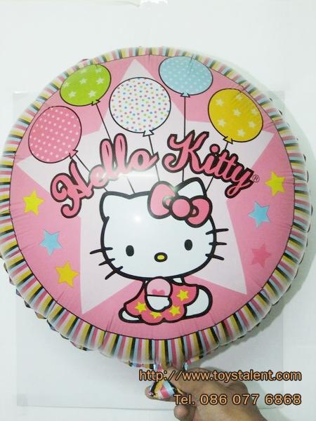 ลูกโป่งฟลอย์ Hello Kitty ลายลูกโป่งทรงกลม - Hello Kitty balloons Foil Round Balloon / Item No. TL-A102