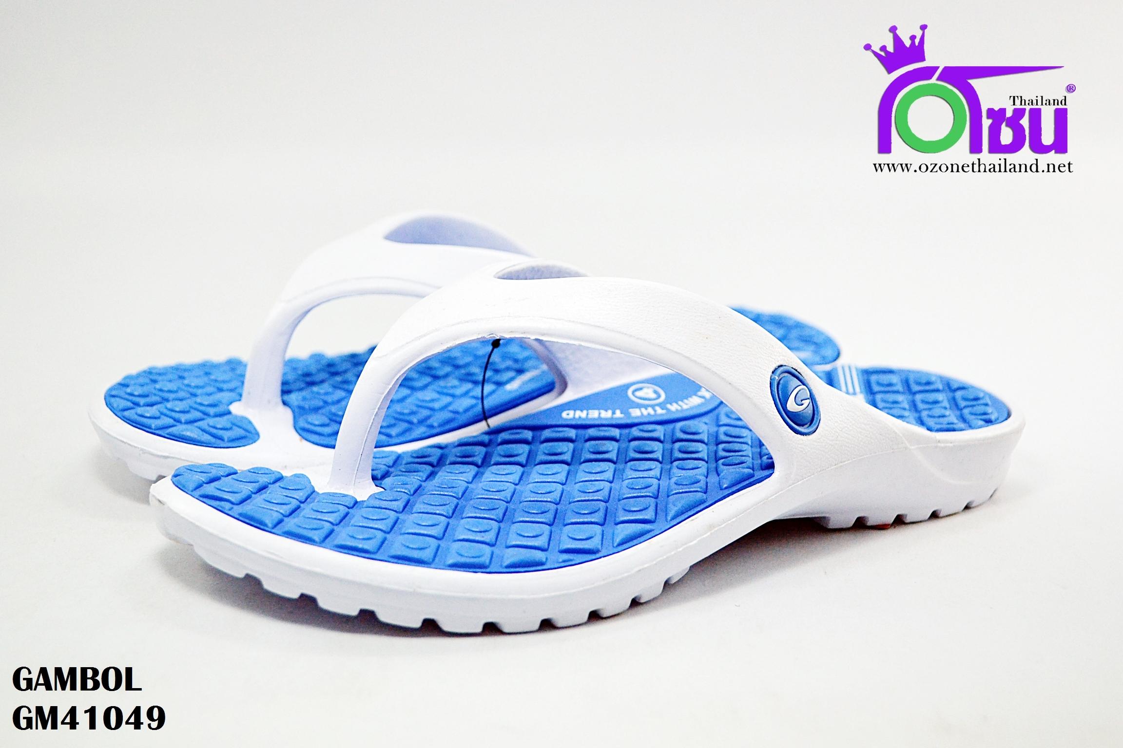 รองเท้าแตะ GAMBOL แกมโบล รุ่น GM 41049 สีฟ้า เบอร์ 4-9