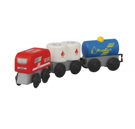 ของเล่นไม้ ของเล่นเด็ก ของเล่นเสริมพัฒนาการ Fuel Train รถไฟเชื้อเพลิง (ส่งฟรี)