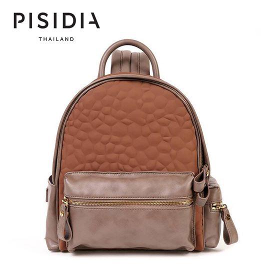 กระเป๋าแบรนด์เนม PISIDIA รุ่น SKIPPER mini สีน้ำตาล (ส่งฟรี EMS)