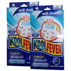 Kool Fever แผ่นเจลลดไข้ สำหรับเด็ก 6 แผ่น/กล่อง X 2 กล่อง