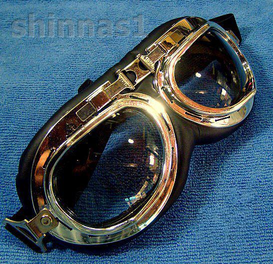 แว่นกันลมเลนส์ใส สไตล์มอเตอร์ไซค์ช็อปเปอร์