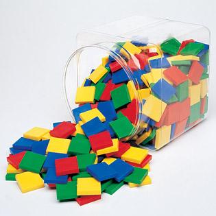 ของเล่นเด็ก ของเล่นเสริมพัฒนาการ Square Color Tiles Set of 400