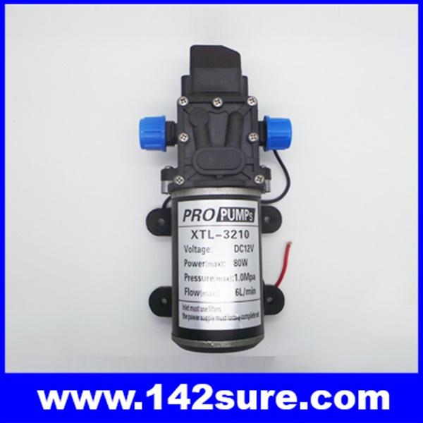 SOP038 ปั้มน้ำโซล่าปั้ม โซล่าปั้มน้ำดีซี แรงดันไฟ12VDC กำลังไฟ80W ส่งน้ำได้60เมตร Micro diaphragm pump 6L/min