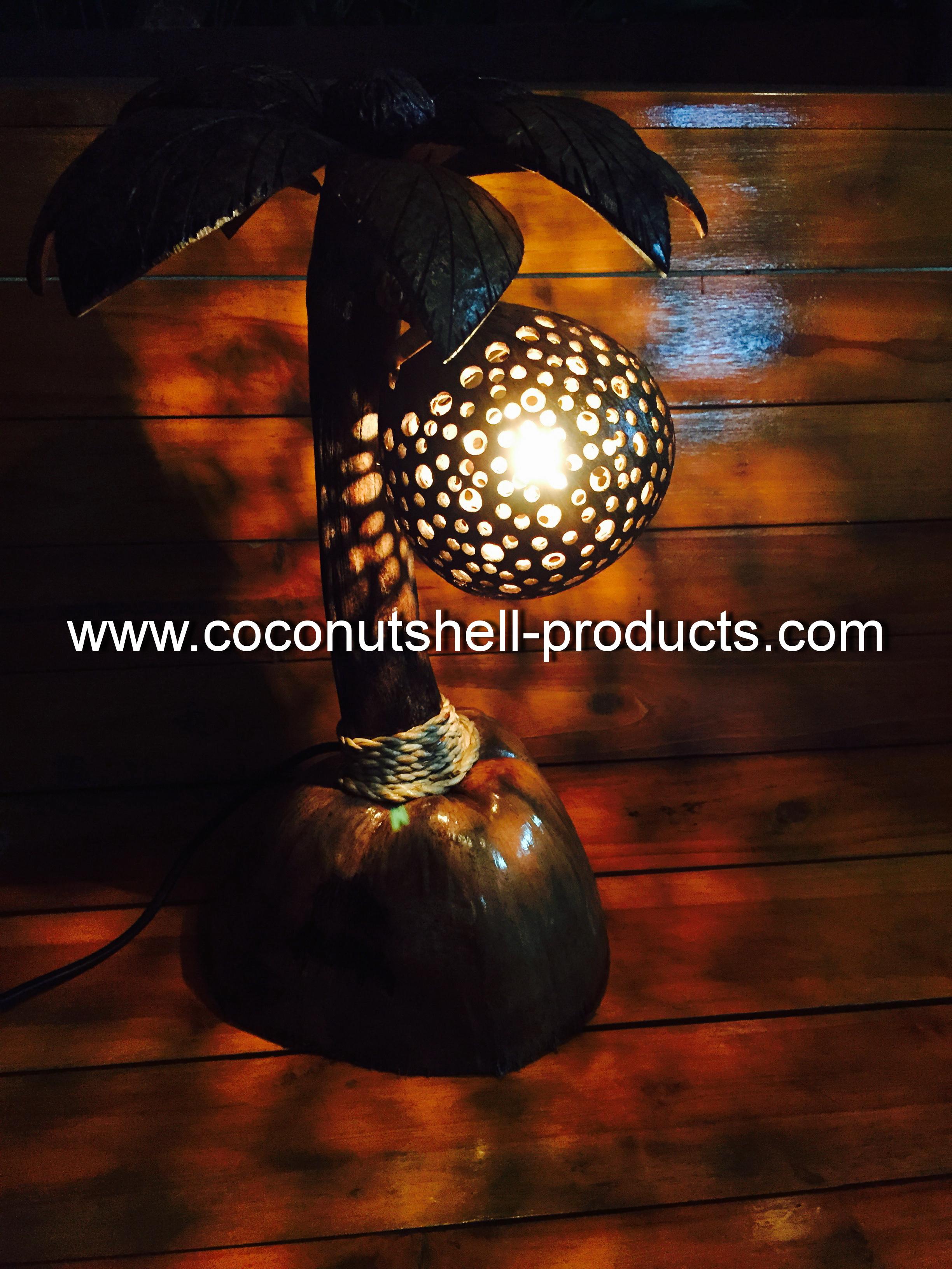 Coconut Shell Lamp (โคมไฟต้นมะพร้าว โคม 1 ลูก)