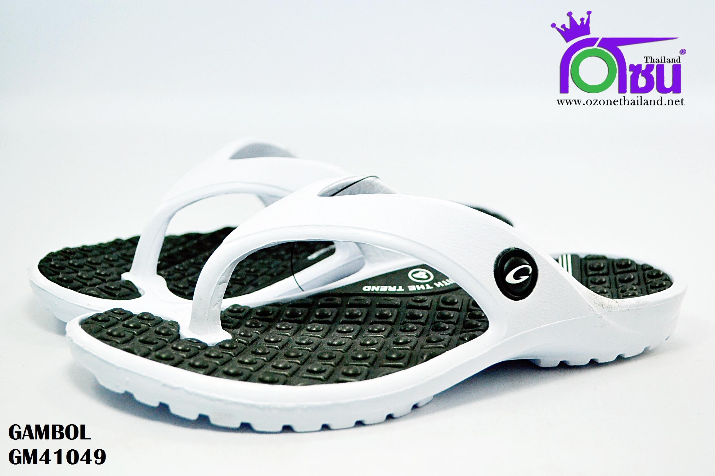 รองเท้าแตะ GAMBOL แกมโบล รุ่น GM 41049 สีดำ เบอร์ 4-9