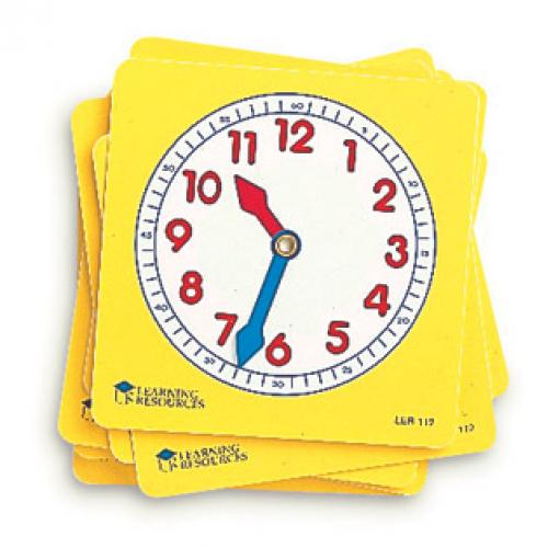 ของเล่นเสริมพัฒนาการ Pupil Clock Dials, Set of 10